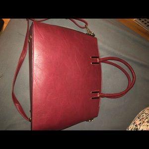 Burgundy bag with matching crossbody!